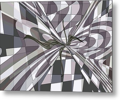 Metal Print featuring the digital art Shades Of Gray by Ginny Schmidt