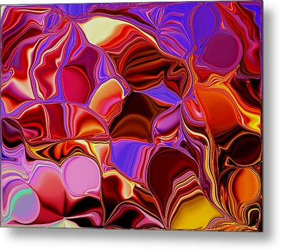Shades Of Satin Metal Print by Renate Nadi Wesley