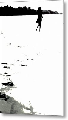 Shadow Footprints Of My Past Metal Print by Jenny Rainbow
