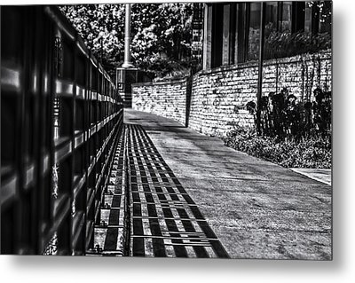 Metal Print featuring the photograph Shadow Walk by Tom Gort