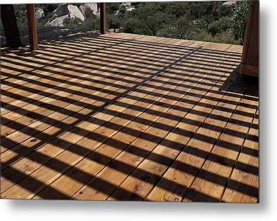 Shadows And Planks Metal Print