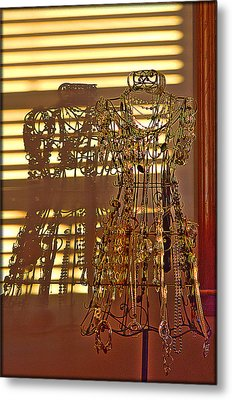 Shadows Of Glamour Metal Print by Shirley Tinkham