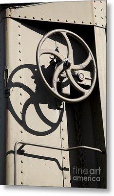 Shadows Of The Train Metal Print by Leslie Leda