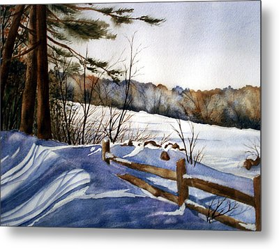 Shadows Of Winter Metal Print by Daydre Hamilton