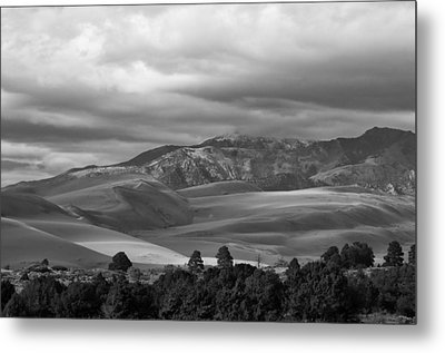 Shadows Sand Mountians Metal Print by Wilma  Birdwell