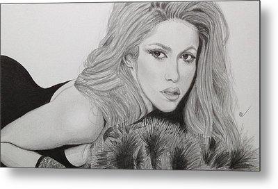Shakira Metal Print by Andrew Nelson