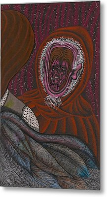 Shamsiel And The Little Father Metal Print by Al Goldfarb