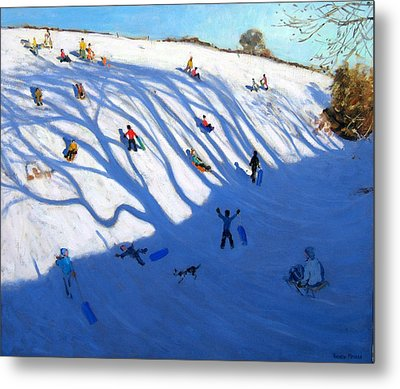 Shandows On A Hill Monyash Metal Print
