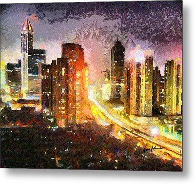 Shanghai Metal Print by Anthony Caruso