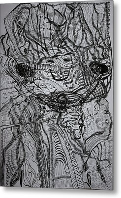 Metal Print featuring the drawing Shango by Gloria Ssali