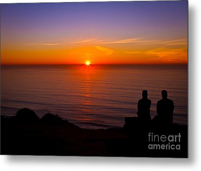 Share A Sunset To Start 2012 Metal Print by Carl Jackson