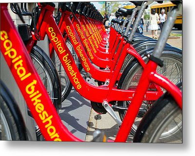 Shared Bikes Metal Print