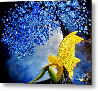 She Rests Metal Print by Peggy Miller