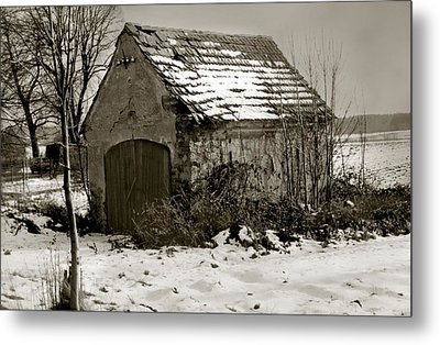 Shed Metal Print by Marcin and Dawid Witukiewicz