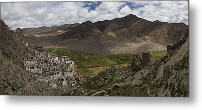 Shegar Monastery And A Group Of Ruined Metal Print