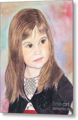 Metal Print featuring the painting Shelby by Carol Flagg