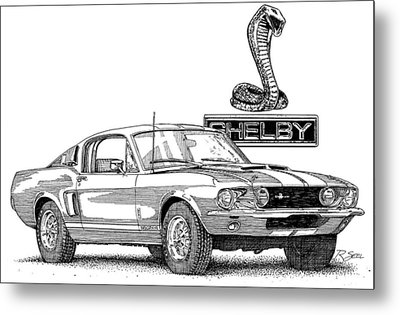 Metal Print featuring the painting Shelby Gt350 by Rod Seel