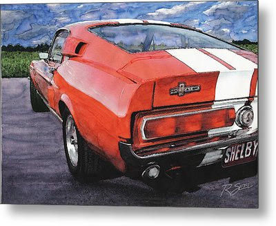 Shelby Gt500 Metal Print by Rod Seel