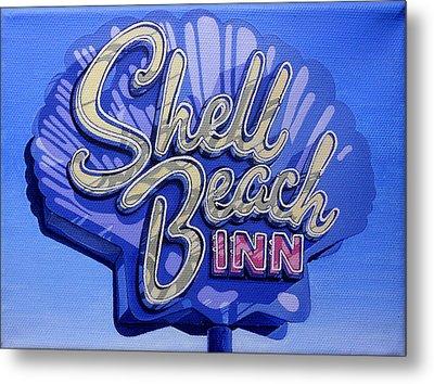 Shell Beach Inn Metal Print by Jeff Taylor