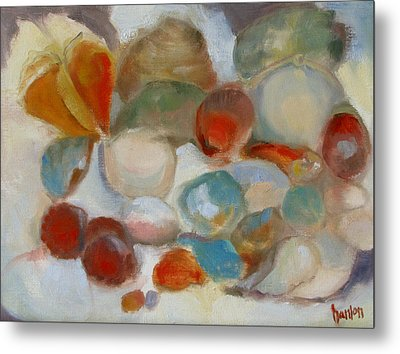 Shell Impression IIi Metal Print by Susan Hanlon