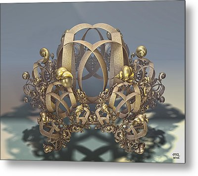 Metal Print featuring the digital art Shells And Rings by Manny Lorenzo