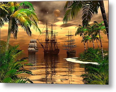 Metal Print featuring the digital art Shelter Harbor by Claude McCoy