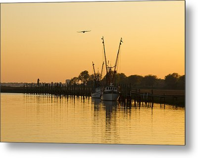 Metal Print featuring the photograph Shem Creek by Carrie Cranwill