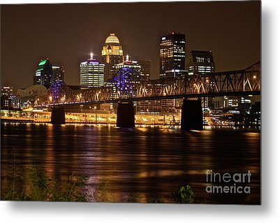 Sherman Minton Bridge Metal Print by Joe Finney