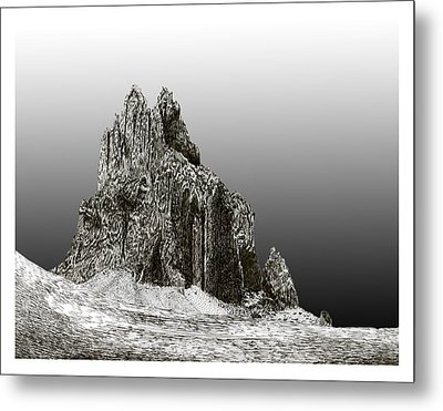 Shiprock Mountain Four Corners Metal Print by Jack Pumphrey