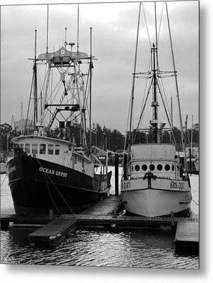 Ships At Anchor Metal Print by Jeff Lowe