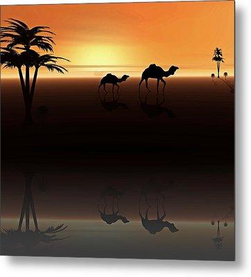 Ships Of The Desert Metal Print by David Dehner