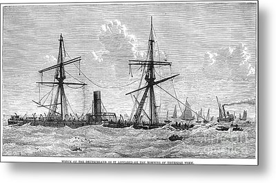 Shipwrecks, 1875 Metal Print by Granger