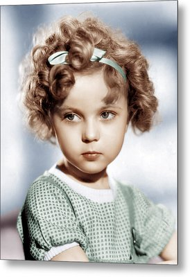 Shirley Temple, Ca. 1934 Metal Print by Everett
