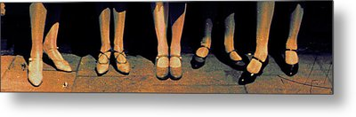Shoe Parade Metal Print by Li   van Saathoff