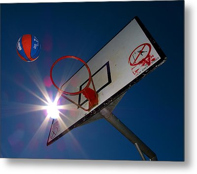 Shootin Hoops Metal Print by Tim Nichols