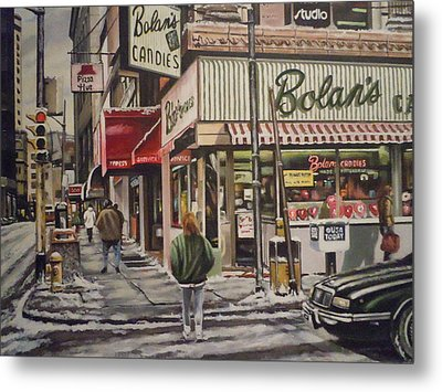 Metal Print featuring the painting Shopping For A Heart by James Guentner
