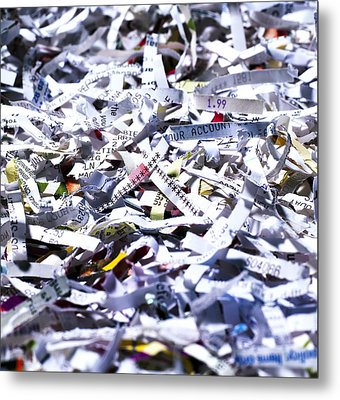 Shredded Documents Metal Print by Kevin Curtis