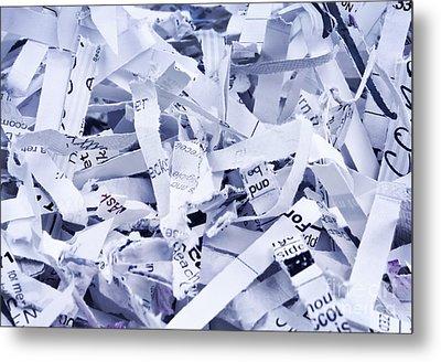 Shredded Paper Metal Print by Blink Images