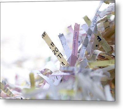 Shredded Paper Metal Print by Tek Image