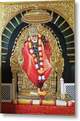 Shree Shirdi Sai Baba Metal Print by Ashok  Sharma