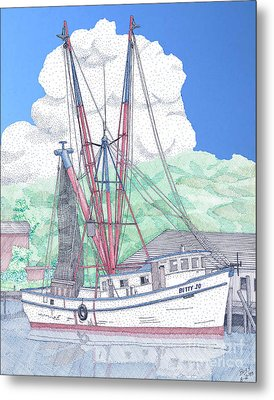 Shrimp Boat Betty Jo Metal Print by Calvert Koerber