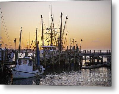 Shrimp Boats Port Royal Metal Print by David Waldrop