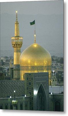 Shrine Of Imam Reza,  Eighth Shiite Metal Print by Martin Gray