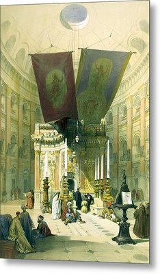 Shrine Of The Holy Sepulchre April 10th 1839 Metal Print