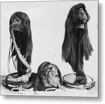 Shrunken Heads Metal Print by Kirby