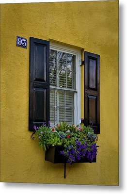 Shutters And Window Boxes Metal Print by Sandra Anderson