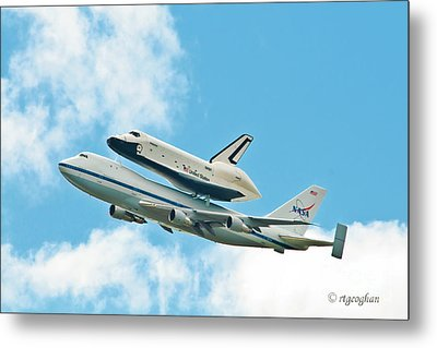Shuttle Enterprise Comes To Ny Metal Print by Regina Geoghan