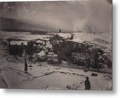 Siberia, Prison Guards Surrounding Metal Print by Everett