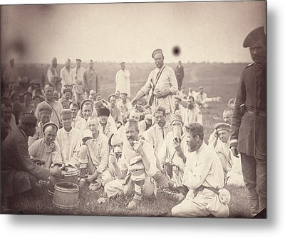 Siberia, Siberian Convicts Taking Lunch Metal Print by Everett