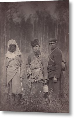 Siberia, Three Escaped Convicts Metal Print by Everett
